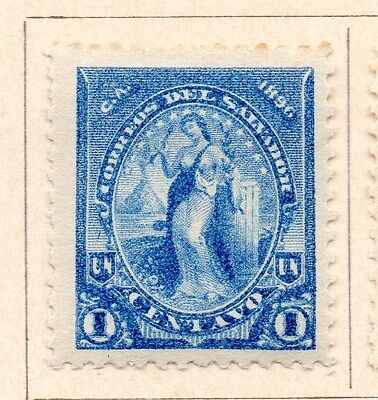 Salvador 1896 Early Issue Fine Mint Hinged 1c. 154134