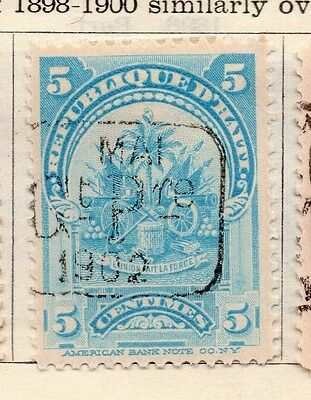 Haiti 1898-1900 Early Issue Fine Mint Hinged 5c. Optd 154268
