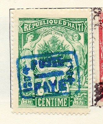 Haiti 1904 Early Issue Fine Mint Hinged 1c. Optd 154292