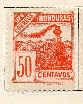 Honduras 1898 Early Issue Fine Mint Hinged 50c. 154511