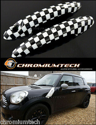 MINI Cooper/S/ONE R50 R52 R53 R55 R56 R57 Chequered Flag Door Handle Covers