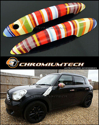 MINI Cooper/S/ONE R50 R52 R53 R55 R56 R57 Muti Color Stripe Door Handle Covers