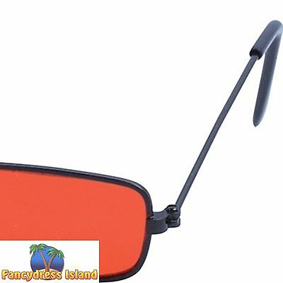 DRACULA VAMPIRE NOVELTY ORANGE HALLOWEEN SUNGLASSES - fancy dress accessory
