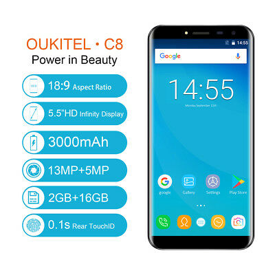 Geotel A1 3G Smartphone Android 7.0 Quad-Core 8MP 8GB Impermeable Móvil Teléfono