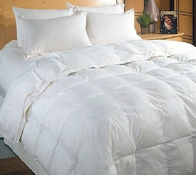 4.5 TOG PURE 100% WHITE DUCK FEATHER DUVET / QUILT -  Available in All Uk Sizes