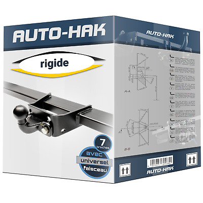 Attelage rigide fixe Ford Transit fourgon 2000-2013 + faisceau 7 broches