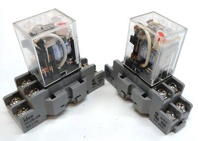 Omron, Relays, Type Ly2N, 110/120 Vac With Idec Socket, Sh2B-05, Lot Of 2