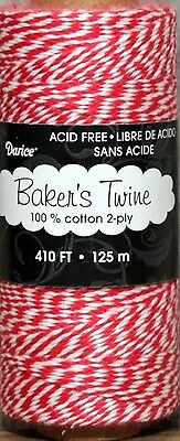 410 ft. Baker's Twine / Cord - - Red & White - 100% cotton - Acid Free