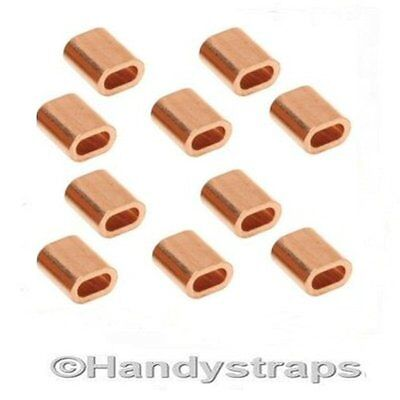 10 x 2mm Copper Ferrules for 2mm Stainless Wire Rope