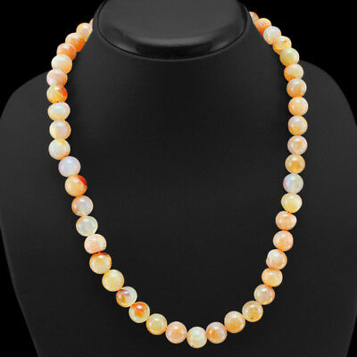 Superb Top Class 351.50 Cts Natural Untreated Orange Aventurine Beads Necklace