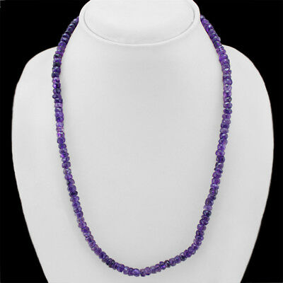 BRILLIANT STRIKING 688.00 CTS NATURAL BOLIVIAN AMETHYST BEADS NECKLACE STRAND
