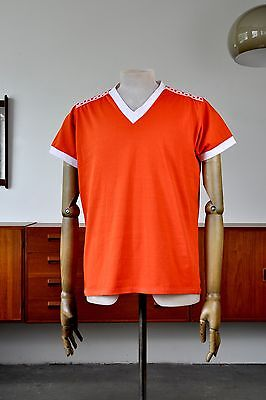 True Vintage HERRENSPIELERHEMD M Kristall 80er Trikot orange Shirt Made in GDR