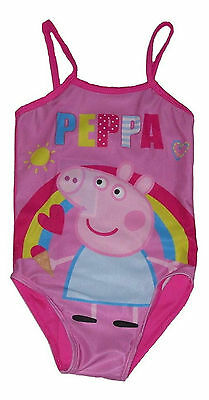 Girls Swimwear Swimsuit Swimming Costume Peppa Pig 2-7 Years