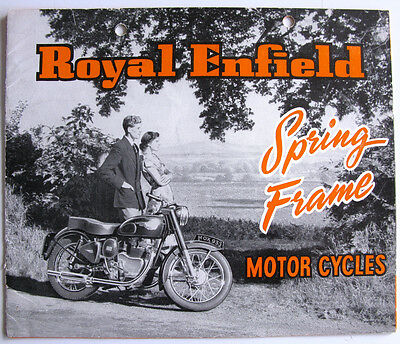ROYAL ENFIELD SPRING FRAME RANGE Motorcycle Sales Brochure NOV 1953 325/75M/1153