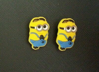 2 x Despicable Me Minions Movie - Bob Minion Croc Shoe Charms Jibbitz