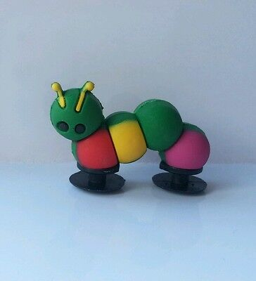 3D Hungry Caterpillar Shoe Charm - 2 Ends For Crocs Jibbitz