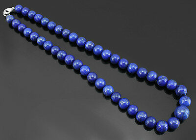 Top Quality 541.00 Cts Natural Blue Lapis Lazuli Round Beads Necklace - Gem Edh