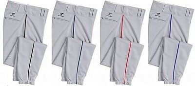 Easton Rival Youth Piped Batting Pants Grey/Red Pipe A164562