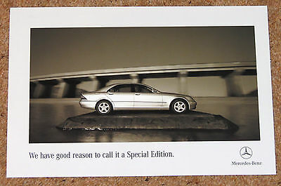 2005 MERCEDES BENZ S CLASS SPECIAL EDITION (W220) Sales Leaflet Brochure