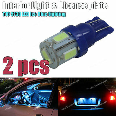 10x Aqua Ice Blue LED Interior Dome Map Light Package Kit For Acura TL 1999-2003