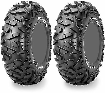 Pair 2 Maxxis Bighorn Radial 26x8-15 ATV Tire Set 26x8x15 26-8-15