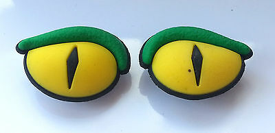 3D Scary Monster Snake Reptile Eyes Shoe Charm - 2 Pieces For Crocs Jibbitz