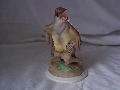 BOEHM Porcelain HP Baby Crested Flycatcher Bird Figurine # 458 EXQUISITE