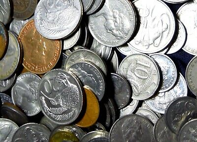 About 350 Australia, New Zealand  Coins,  Below 30 Cent/coin
