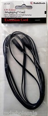 Radio Shack 6ft Adaptaplug Extension Cord for AC / DC Power Adapters 273-1641