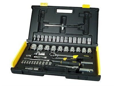 Stanley STA194659 Microtough 65 Piece 1/4 and 1/2 Socket Set 1-94-659