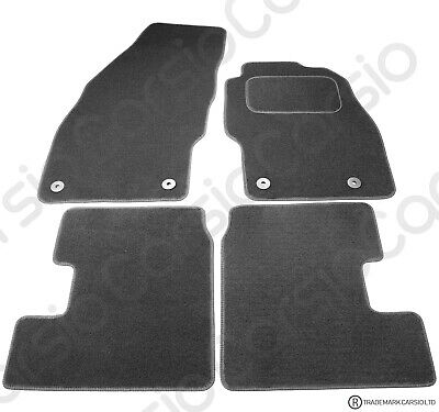 Vauxhall Adam 2013  Tailored Black Car Floor Mats Carpets 4pc Set With 4 Clips