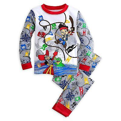 Disney Store Jake And The Never Land Pirates 2 PC Tight Fit Pajama Set Boy 5 6