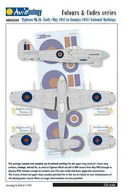 Typhoon National Markings (May 1942-Jan 1945) - 1/32 scale Aviaeology Decals