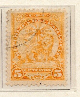 Paraguay 1905-08 Early Issue Fine Used 5c. 154929