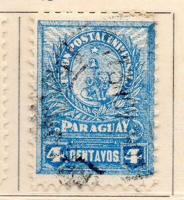 Paraguay 1901-02 Early Issue Fine Used 4c. 154881
