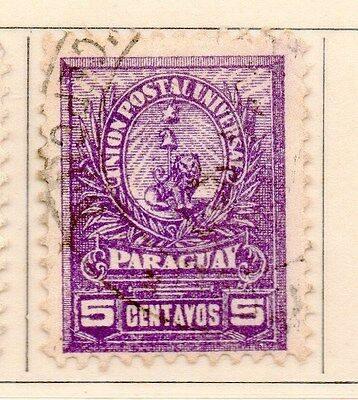 Paraguay 1901-02 Early Issue Fine Used 5c. 154883