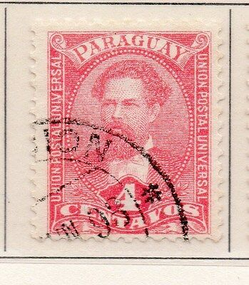 Paraguay 1892 Early Issue Fine Used 4c. 154853
