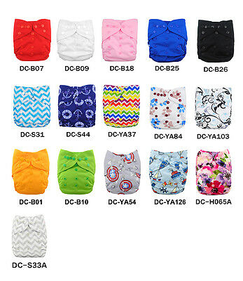 ALVA BABY Diaper Cover Colored Sanp With Double Gussets Waterproof Printed TPU