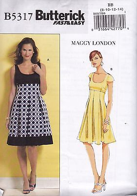 Butterick Sewing Pattern Easy Maggy London  Misses' Dress 8-22 B5317
