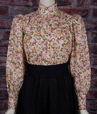 FRONTIER CLASSICS Floral Print Garden City Blouse Dickens SASS Steampunk