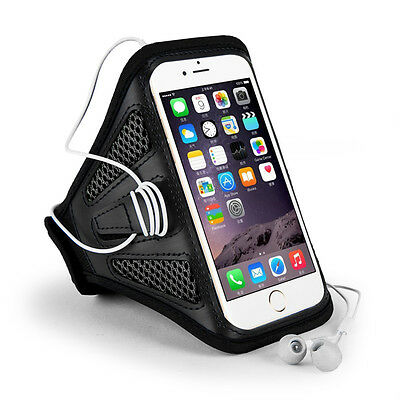 Sumaclife Black Mesh Sports Running Armband Case Holder for iPhone XS Max/8 Plus