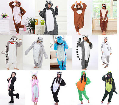 Hot Kids Unisex Adult Pajamas Kigurumi Onesie Animal Cosplay Costume Sleepwear