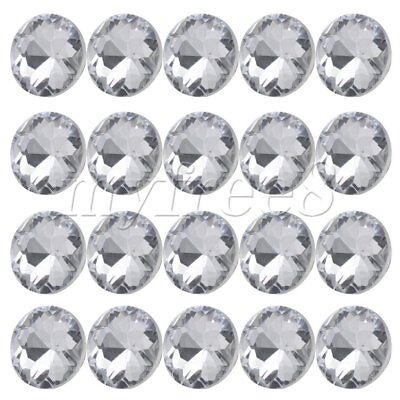 20pcs Diamante Crystal Upholstery Sofa Headboard Buttons Wall Decor 20x16mm