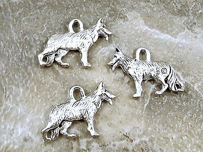 3 Pewter Charms - GERMAN SHEPHERD -5483