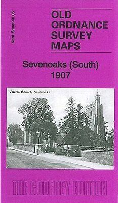 Old Ordnance Survey Map Sevenoaks (South) 1907