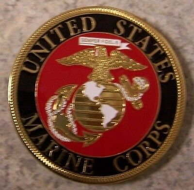 Car Grill Badge Military U S Marine Corps NEW metal including mounting hardware