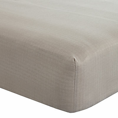 Catherine Lansfield Elmswell Natural 300 Thread Count Sateen Fitted Sheet