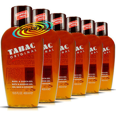 6x Maurer & Wirtz Tabac Original Bath & Shower Gel 400ml