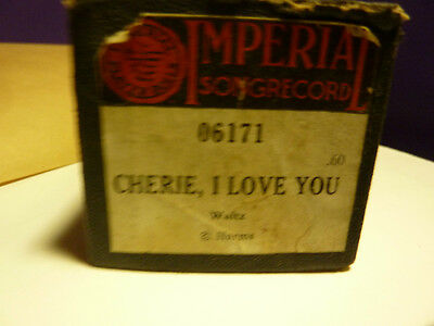 Vintage Piano roll IMPERIAL 06171 CHERIE, I LOVE You  Harms