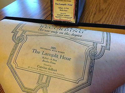 AMPICO Piano Roll 2601-F The Lamplit Hour Ballad B Flat  pb.Corrinne deBert 1919